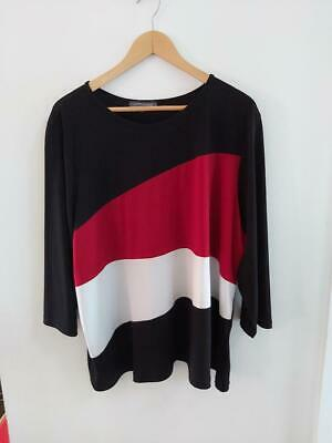 Additionelle Womens Plus Size 4x Blouse 3/4 Sleeves Top Black Red White Canada