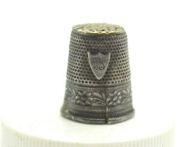 Post Medieval period silver thimble with inicials