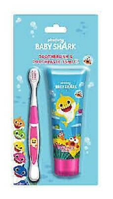 Baby Shark Toothbrush and Toothpaste Set