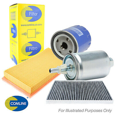 Genuine Comline Air Fuel Oil & Carbon Cabin Pollen Filter Service Kit