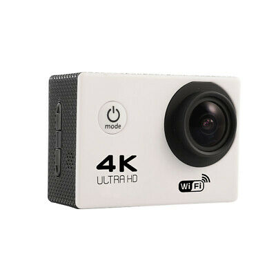White Ultra 4K Full HD 1080P Waterproof DVR Sports Camera WiFi  Action Camcorder