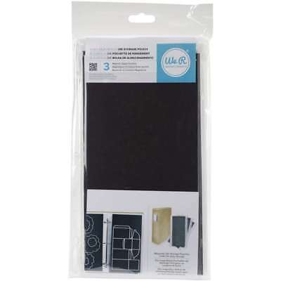 """Die Storage We R storage Pouch Pack of 3 6x12"""" Magnectic Zipper Pouches - 2-Pack"""