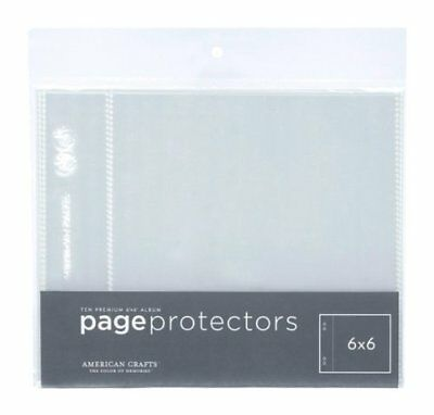 American Crafts 6-Inch by 6-Inch Hoja Protectores