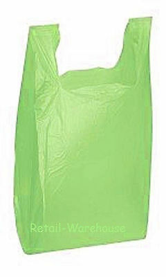 Plastic Bags 5000 Lime Green Shopping Grocery Retail Grocery T-Shirt 11 x 6 x 21