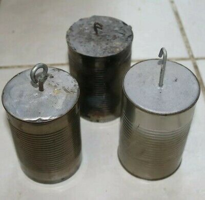 3x Solid Lead Clock Weights.10lb each approx.