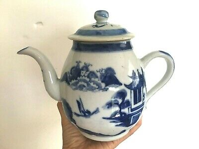 Beautiful Antique Chinese blue and white teapot