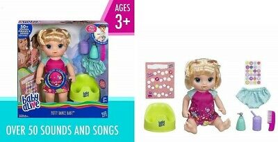 Baby Alive Potty Dance Baby Girls Doll 50+ Sounds Eats,Drinks and Sleep XMAS Toy