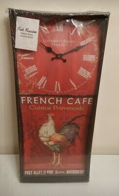 Shabby ship rooster kitchen clock,new in a box
