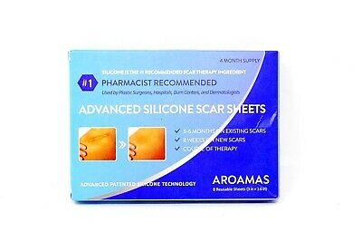 Aroamas Professional Silicone Scar Sheets, Soften and Flattens Scars - 8 Sheets