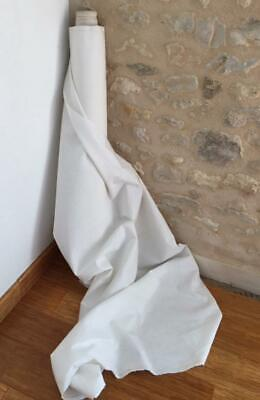 Bolt Unused Vintage French Pure Linen Fabric Fil De Lin Fabric 90 Cms Wide