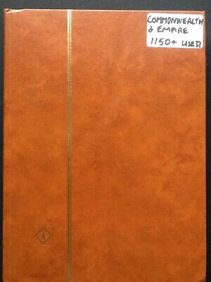 Commonwealth & Empire used stamp Collection (1150) in brown 16 page, 32 side Lig