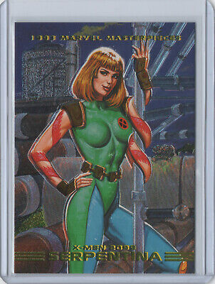 1993 Marvel Masterpieces X-MEN 2099 DYNA-ETCH Chase Card #S5 SERPENTINA SkyBox