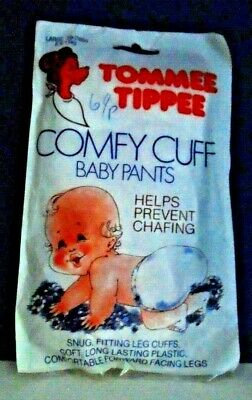 Vintage Tommee Tippee Cumfy Cuff Baby Plastic Pants-Mint/Mint Pack-Ex Shop Stock