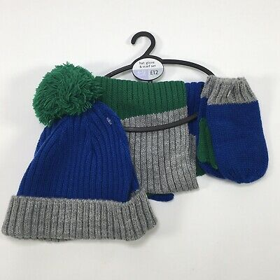 Next Child's Hat Glove & Scarf Set 6-12 Months Winter Christmas Stocking Filler
