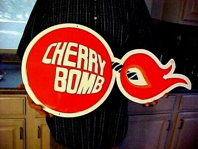 *Cherry Bomb Muffler Sign Exhaust Specialist Gas Station Advertising Muscle Car
