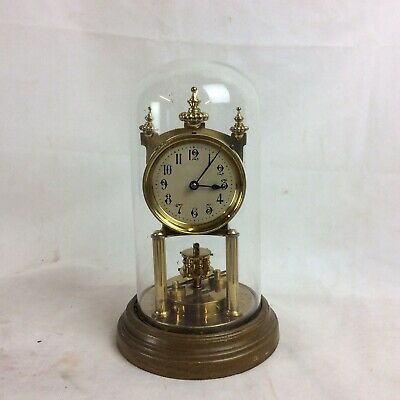 Vintage Gustav Becker Anniversary Torsion Clock. Needs New Pendulum Wire