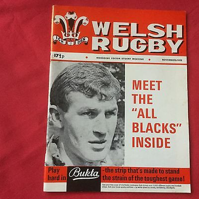 Welsh Rugby Magazine November 1972. Meet The All Blacks.  Photos...