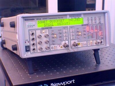 Tektronix ST112 SDH/SONET Transmission Test Set Great Condition!