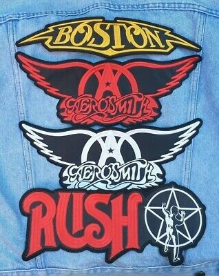 Aerosmith Est 1970 Steven Tyler IRON ON EMBROIDERED PATCH NEW Blues Rock