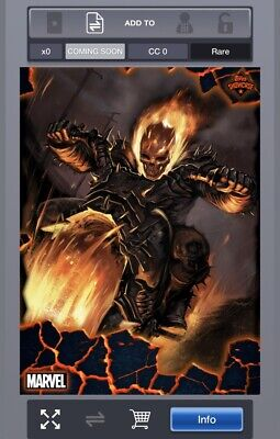 TOPPS MARVEL Collect - Award Ready Ghost Rider Showcase Digital Card Set