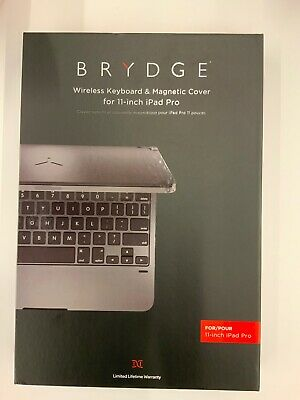 """Brydge Pro Silver - Keyboard And Cover For iPad Pro 11"""" (2018)"""