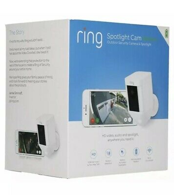 Ring Spotlight Cam Battery Digital Wireless Outdoor Security Camera