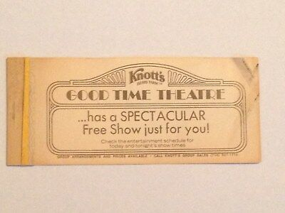 1979 Knotts Berry Farm Complimentary Ticket Book Cover - No Tickets - 6951