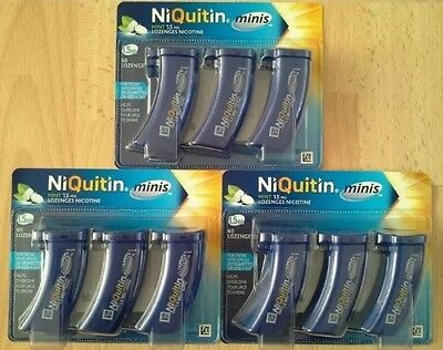 NiQuitin Minis Mint 1.5mg Lozenges 180 Lozenges bulk buy! Brand new! Exp- 012021