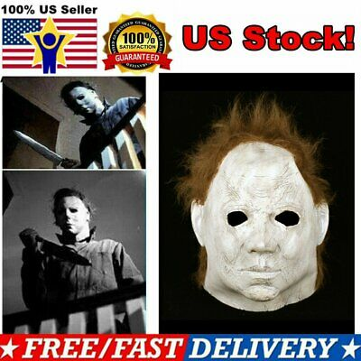 Michael Myers Halloween 2018 Mask Latex Horror Mask Cosplay Scary Film Props New