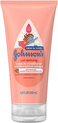 Johnson's Baby Curl Defining Tear-Free Kids Leave-in Shea Butter Conditioner, 6.