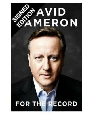 SIGNED David Cameron For The Record Book