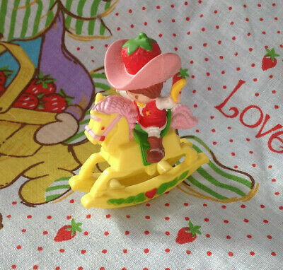 Strawberry Shortcake Deluxe Mini Strawberry on a Rocking Horse 1983