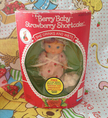 Strawberry Shortcake BERRY BABY Strawberry Shortcake herself MIB 1980s