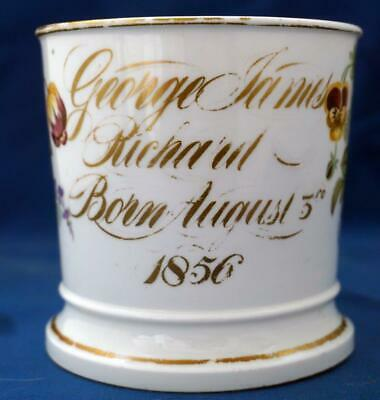 Antique Porcelain Christening Mug George James Richard 1856