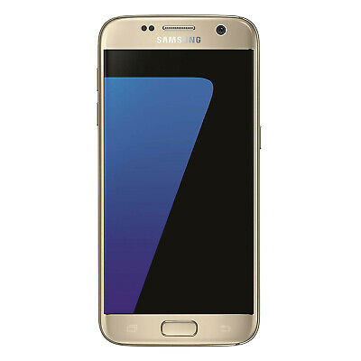 "Samsung Galaxy S7 32Gb Android Mobile Unlocked Phone 5.1"" Gold 4G Lte Sim Free"