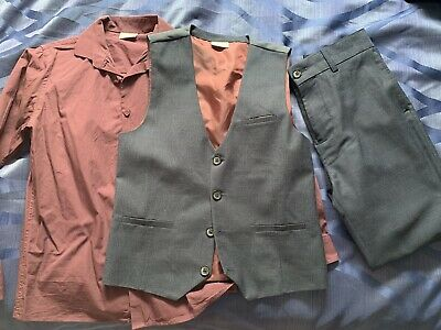 Boys Next Waistcoat, Trousers & Shirt Age 11 Years Worn Once Blue, Like A Suit