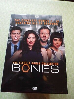 Bones: The Flesh & Bones Collection - The Complete Series 1-12 (DVD, 2017,...