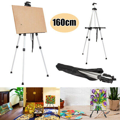 Folding Artist Telescopic Painting Easel Tripod Display Stand Craft Supply White
