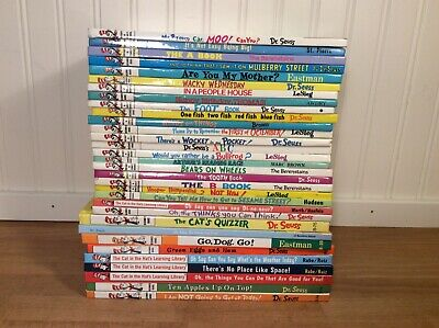 HUGE Lot of 31 DR. SEUSS BEGINNER BOOKS Bright Early Reader