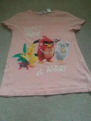 Girls H&M summer Angry birds top  (7-9years)