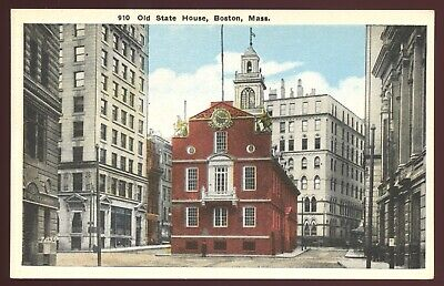 Massachusetts Postcard: Old State House In The Shadows Of Progress , Boston, Ma