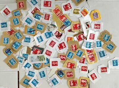 Job lot of franked (1st and 2nd class) & unfranked stamps (value £5.81) on paper
