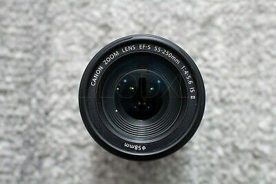 Canon EF-S 55-250mm F/4-5.6 IS II Zoom Lens, Excellent Condition