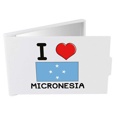 'I Love Micronesia' Compact / Travel / Pocket Makeup Mirror (CM00000314)