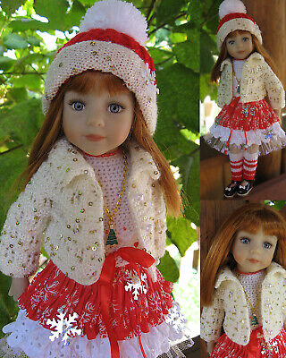 """OOAK Outfit for D. Effner Little Darling 13"""" Dolls -Christmas -New"""
