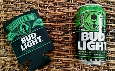 Bud Light Area 51 Limited Edition Alien Beer Can and Koozie Combo Lot