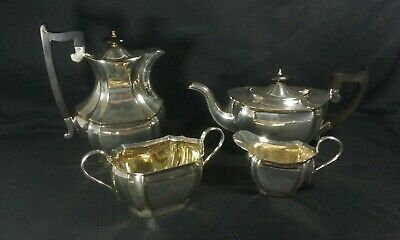 Vintage Sheffield Silver Plated EPNS Teapot & Coffee Set Sugar And Milk Jug Used