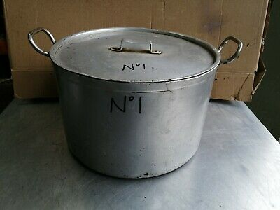 No1 Aluminium  Cooking Pot With Lid 400Mmx 500Mm With Handle X 260Mm  High