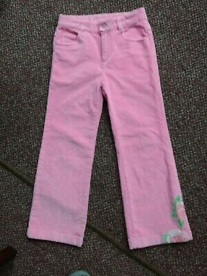 Bnwot - Kingkow - Girls Pink Corduroy Trousers - Age - 8 Years