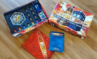 Doctor Who Interactive Electronic Board Game Checked Complete Great Fun! Gd/Con